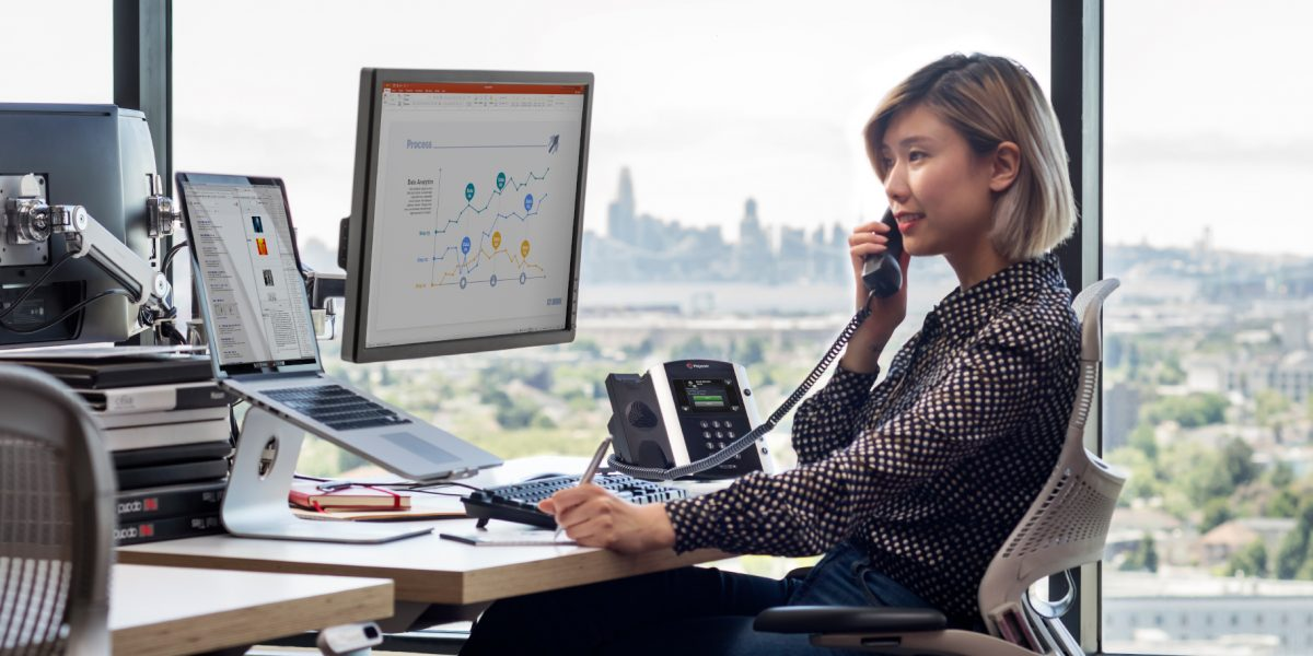 Women using a VoIP Connections